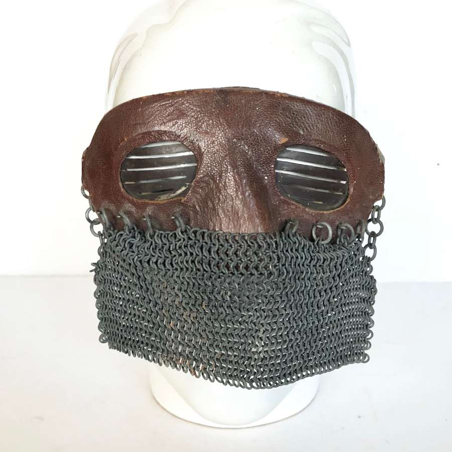 Original WWI Pattern Tank Driver's Face Mask.