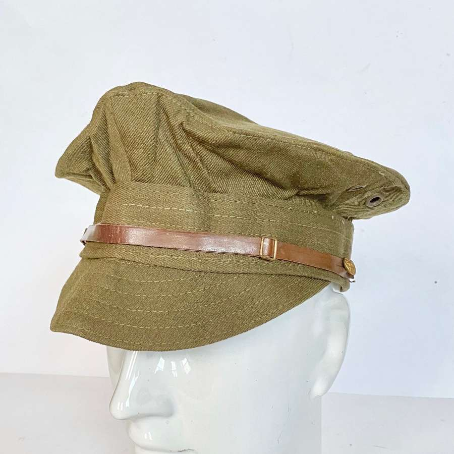WW1 Pattern British Army Other Rank's Denim Trench Cap.