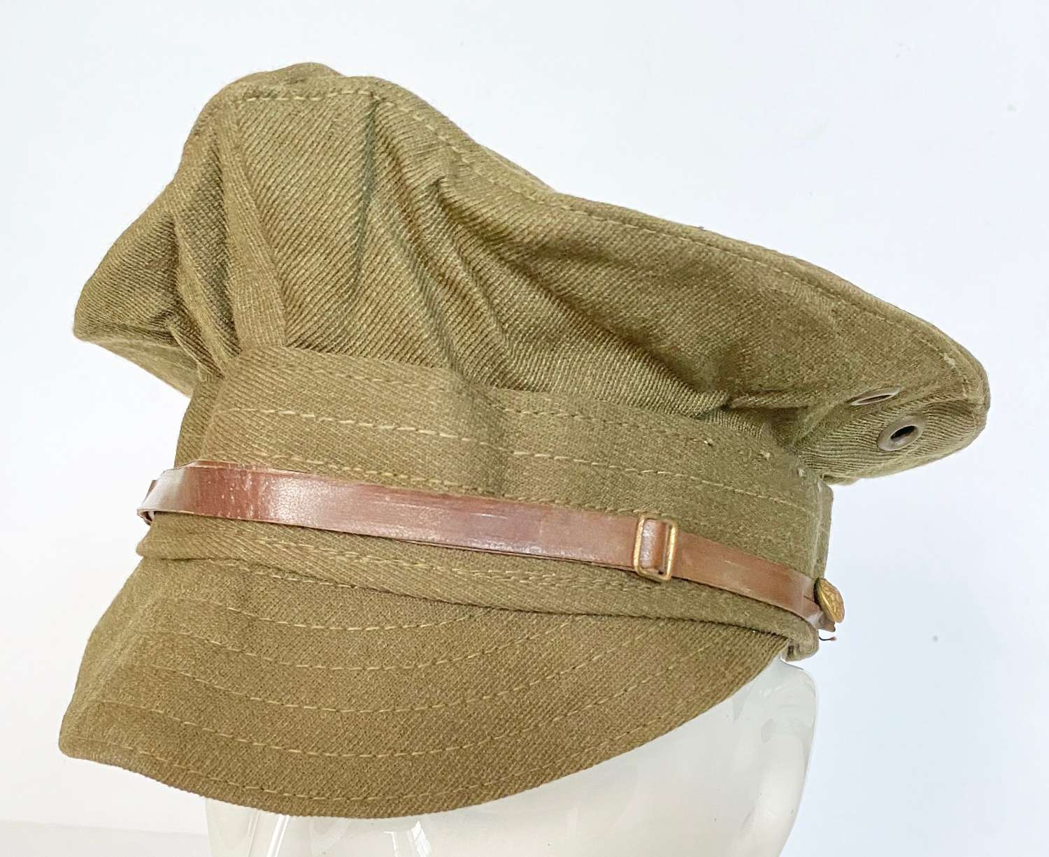WW1 Pattern British Army Other Rank's Denim Trench Cap.