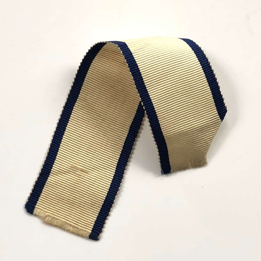 Naval General Service Medal 1847 Original Ribbon.