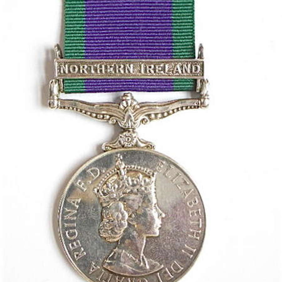 "Royal Tank Regiment Campaign Service Medal, clasp ""Northern Ireland"