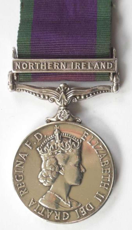 Devon & Dorset Regiment Campaign Service Medal Clasp Northern Ireland.