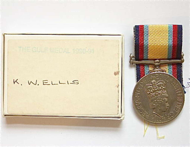 1990 Gulf War Civilian GCHQ Operative Medal. GCHQ.