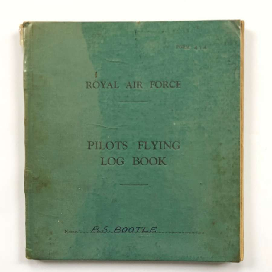 RAF Cold War Period Pilots Flying Log Book.