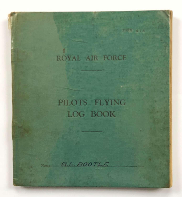 RAF Cold War Period Pilots Flying Log Book.