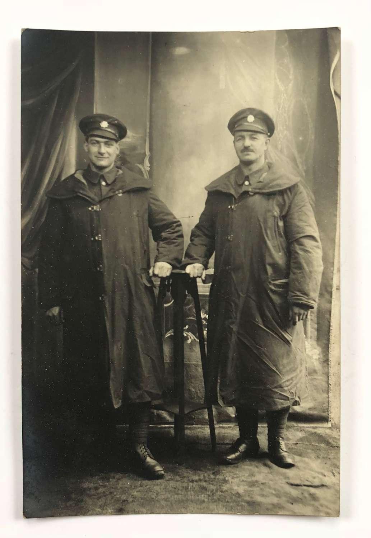 WW1 Original Army Service Corps Photographic Postcards.
