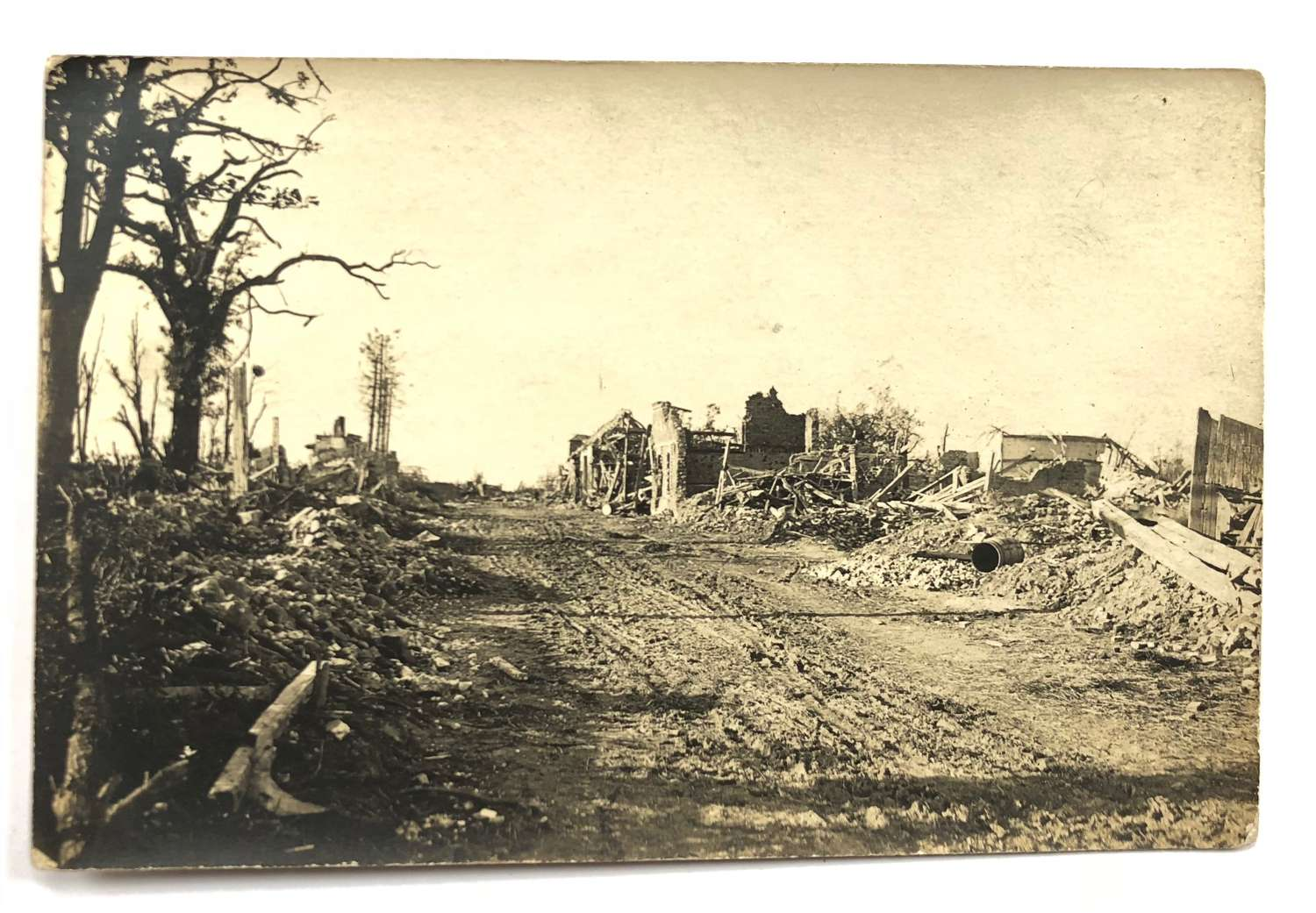 WW1 Original 1918 Photographs of Bomb Damage.