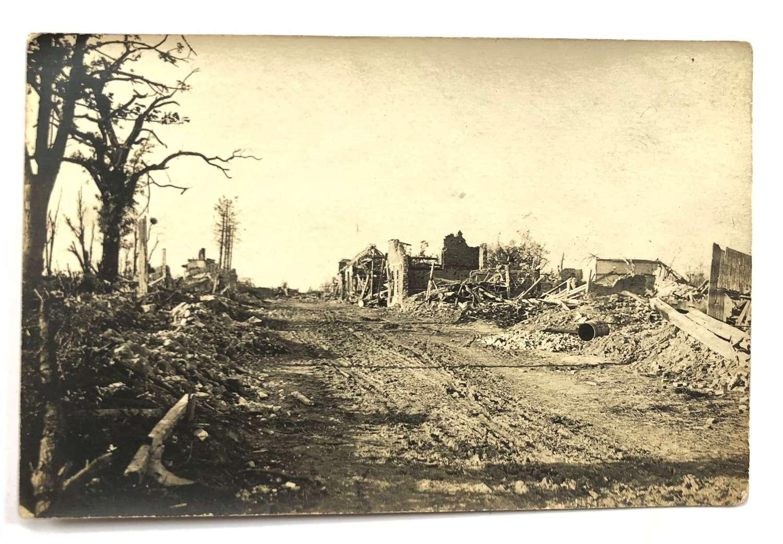 WW1 Original 1918 Photographs of Bomb Damage.