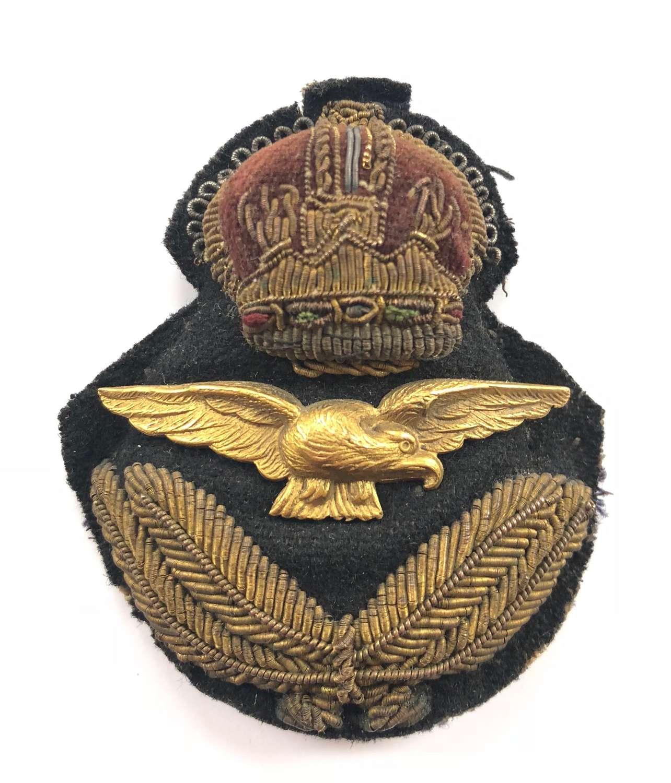 RAF Inter War / WW2 Officer's Cap Badge.