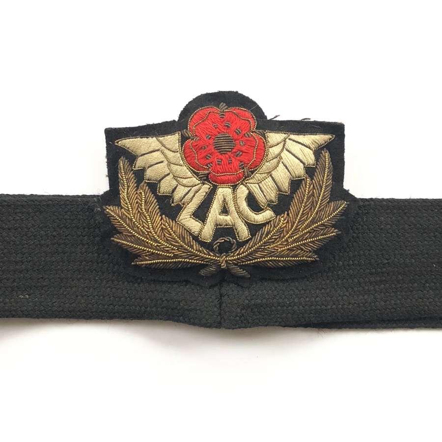 Lancashire Aero Club Bullion Cap Badge.