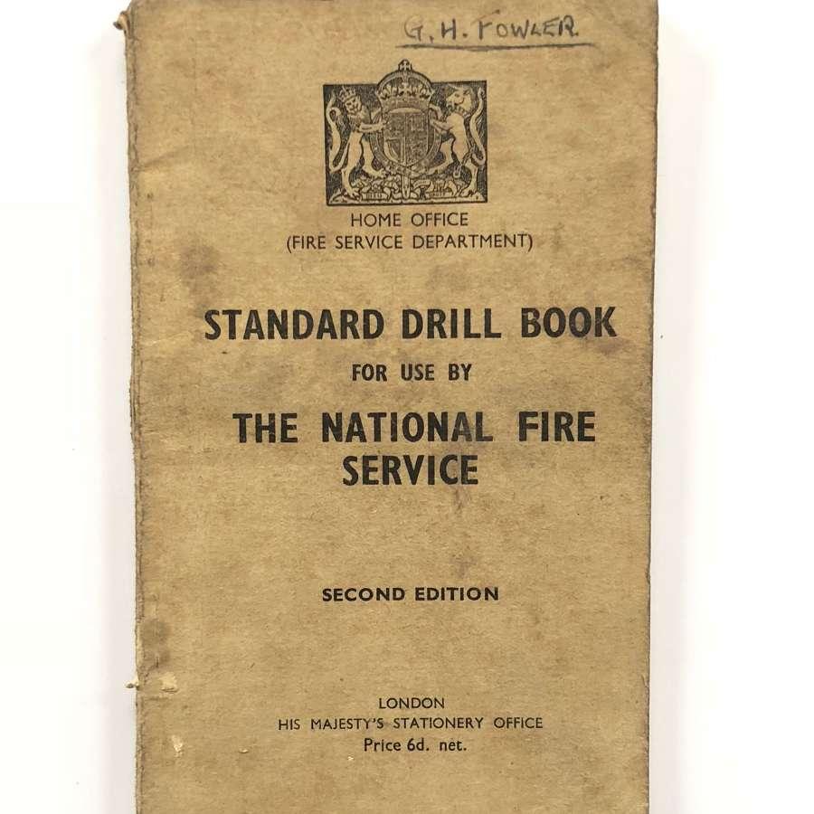 WW2 National Fire Service Drill Book.