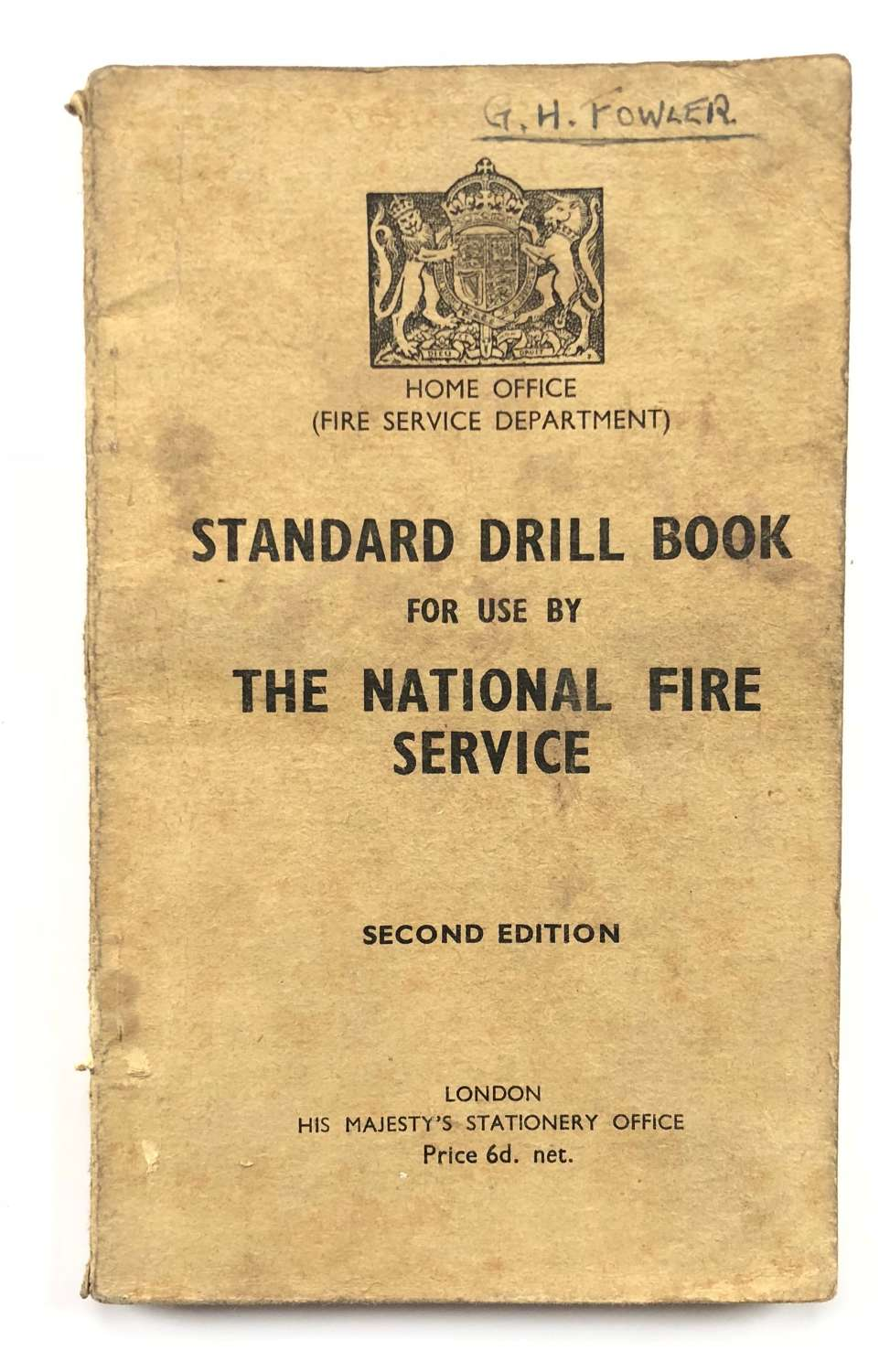 WW2 National Fire Service Drill Book.