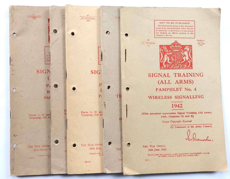 WW2 Military Training Pamphlet No.7 Parts 1 to 4 Radio & wireless Proc
