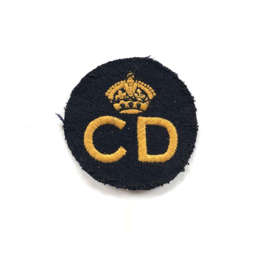 WW2 Home Front Civil Defence Cloth Breast Badge.