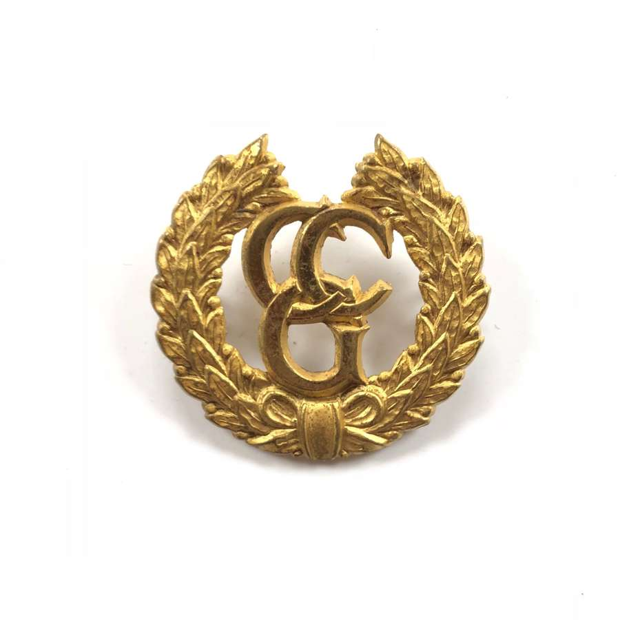 Control Commission Germany Gilt Cap Badge.