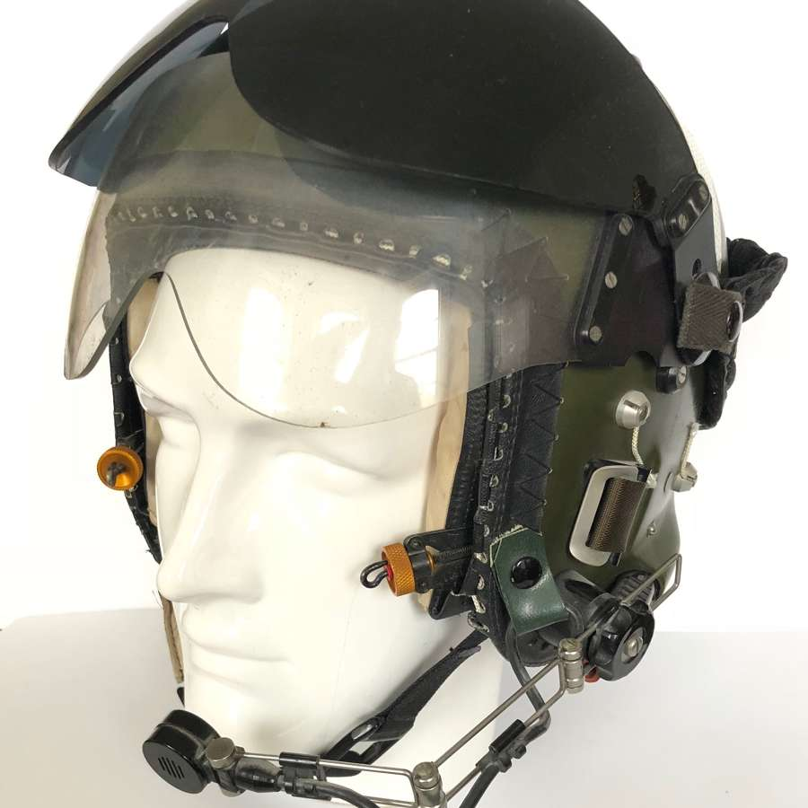 RAF Cold War Helicopter Pilots Bone Dome Flying Helmet.