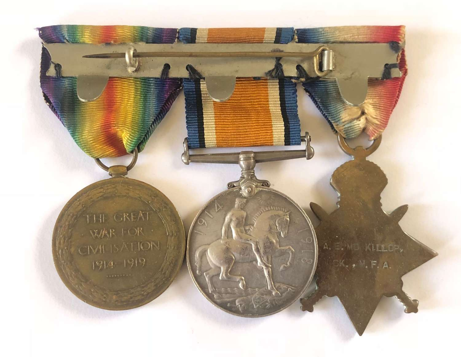 WW1 Mercantile Marine Cooks Group of Three Medals.