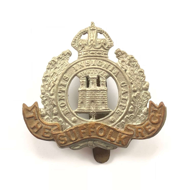 WW1 / WW2 Suffolk Regiment Cap Badge