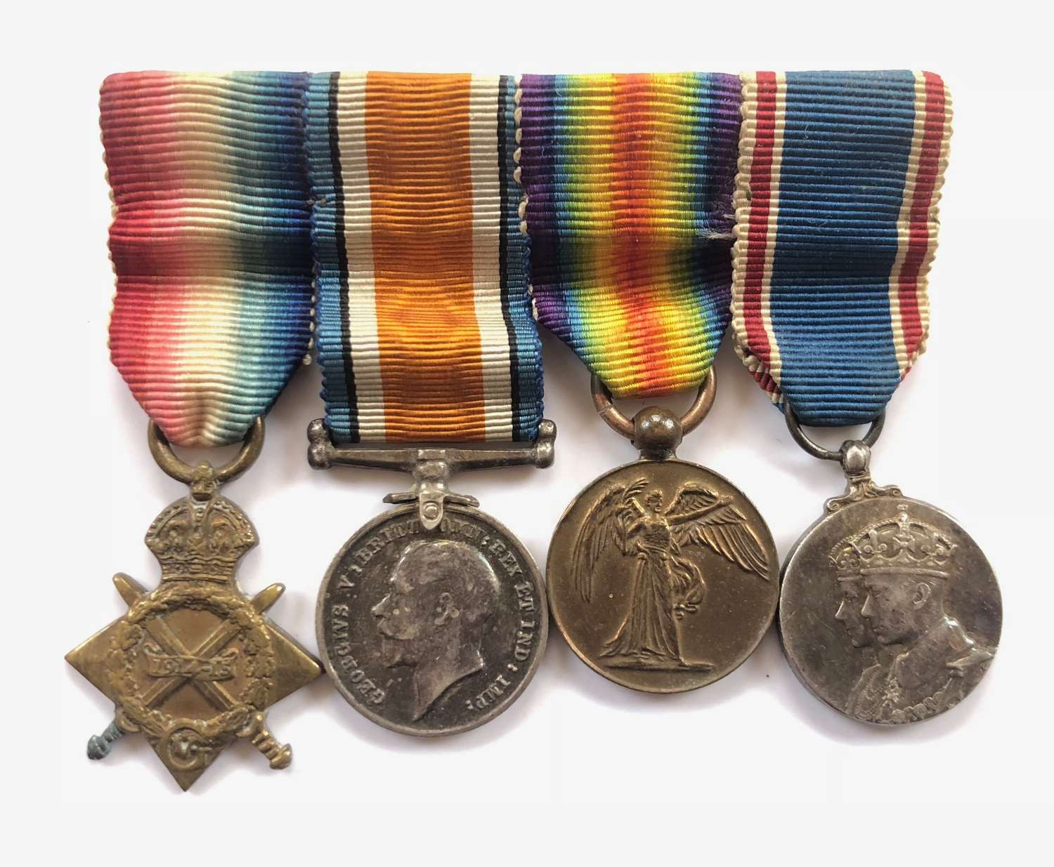 WW1 Miniature Medal Group of Four.