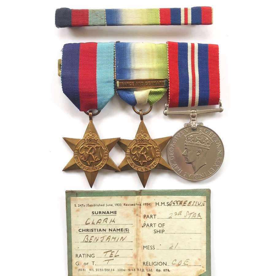 WW2 Royal Navy Attributed Medal Group.