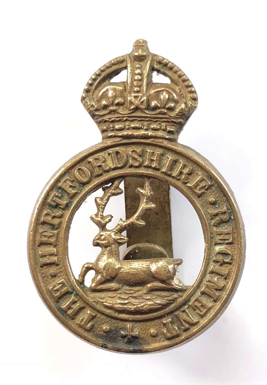 WW1 Hertfordshire Regiment Cap Badge