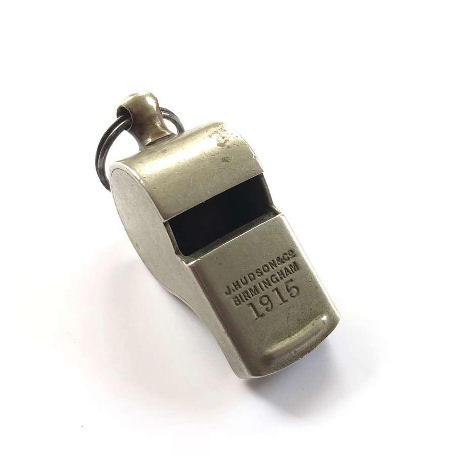 "WW1 British Army 1915 NCO ""Pea"" Whistle."