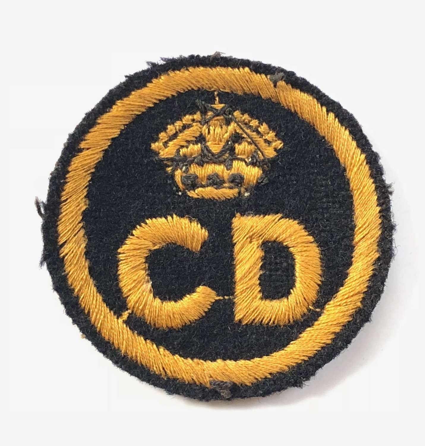 WW2 Civil Defence Small Size Cloth Cap Badge