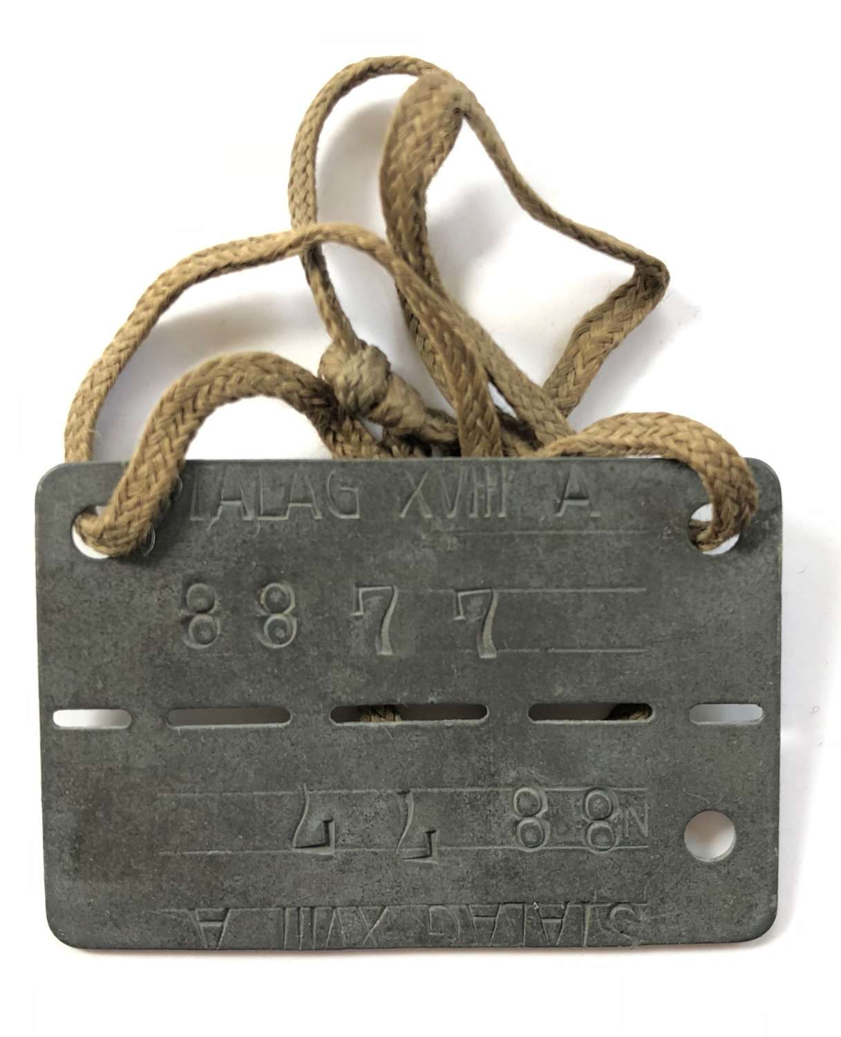 "WW2 5th Bn Northamptonshire Regiment POW ""Dog Tag"""