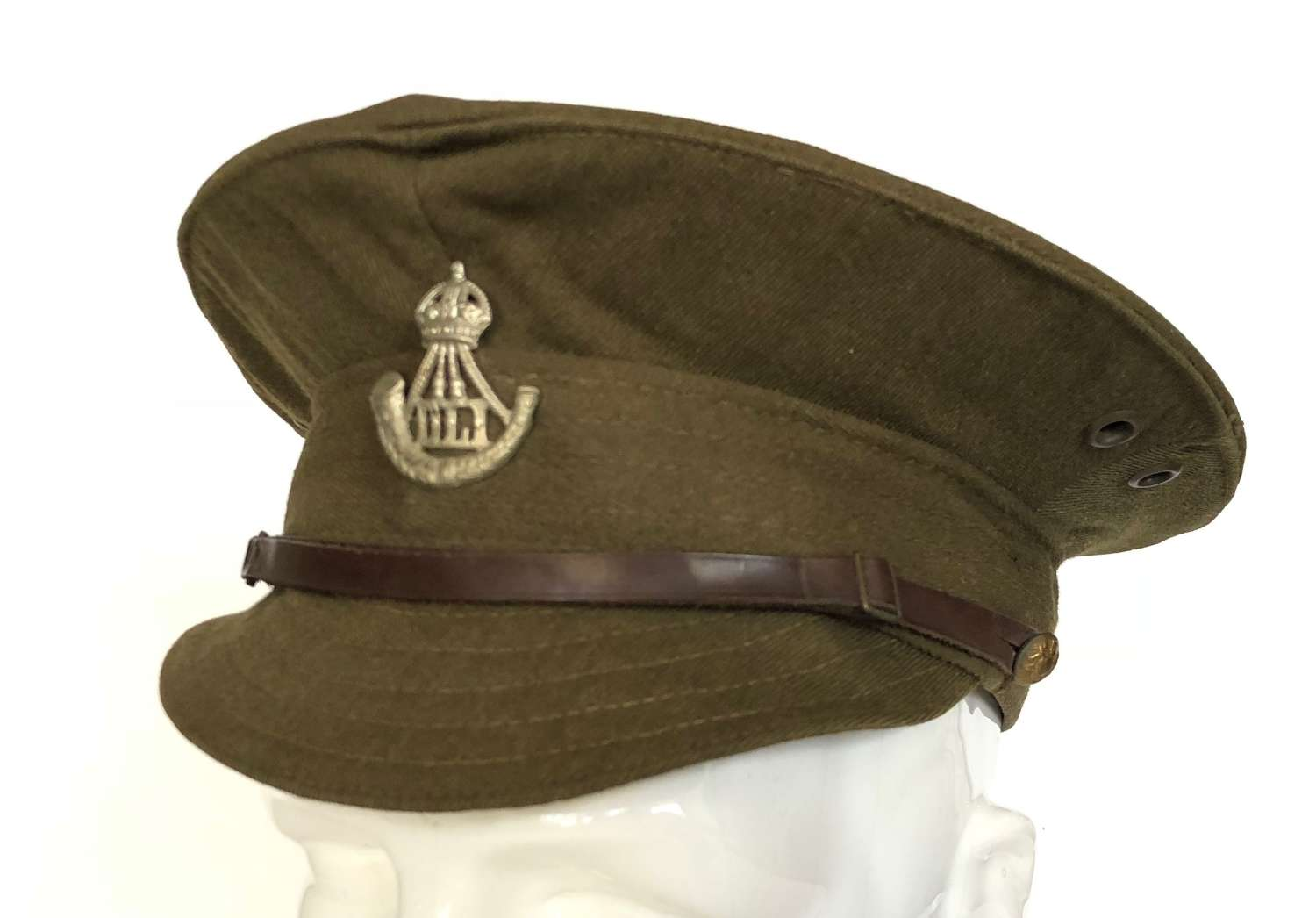 WW1 Pattern Durham Light Infantry Other Rank's Denim Trench Cap.