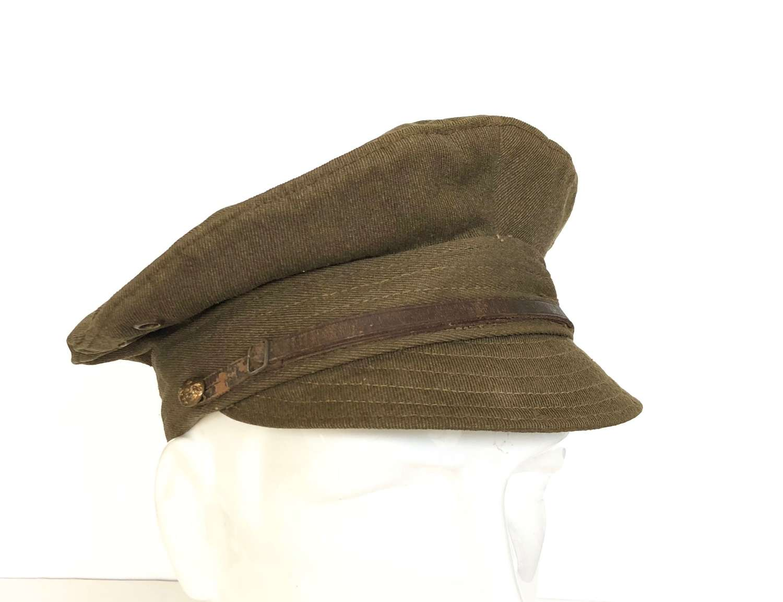 WW1 Period British Army Other Rank's Denim Trench Cap.