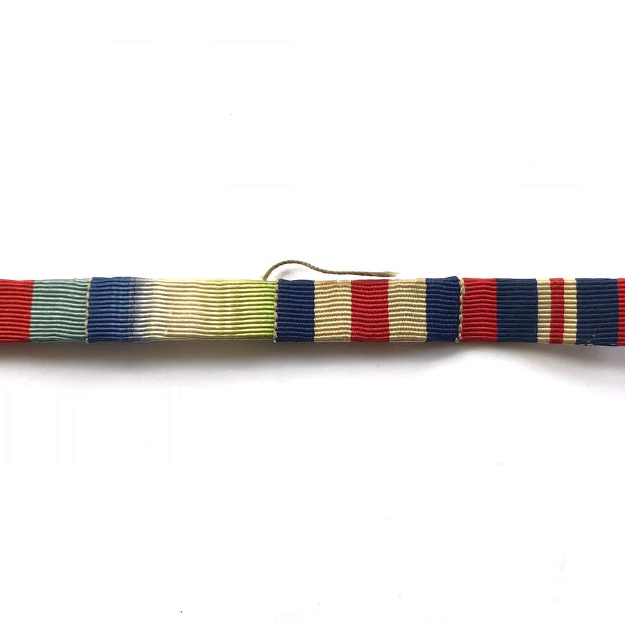 WW2 British Uniform Medal Ribbon Bar.