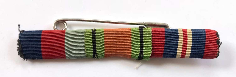 WW2 British Uniform Medal Ribbon Bar.