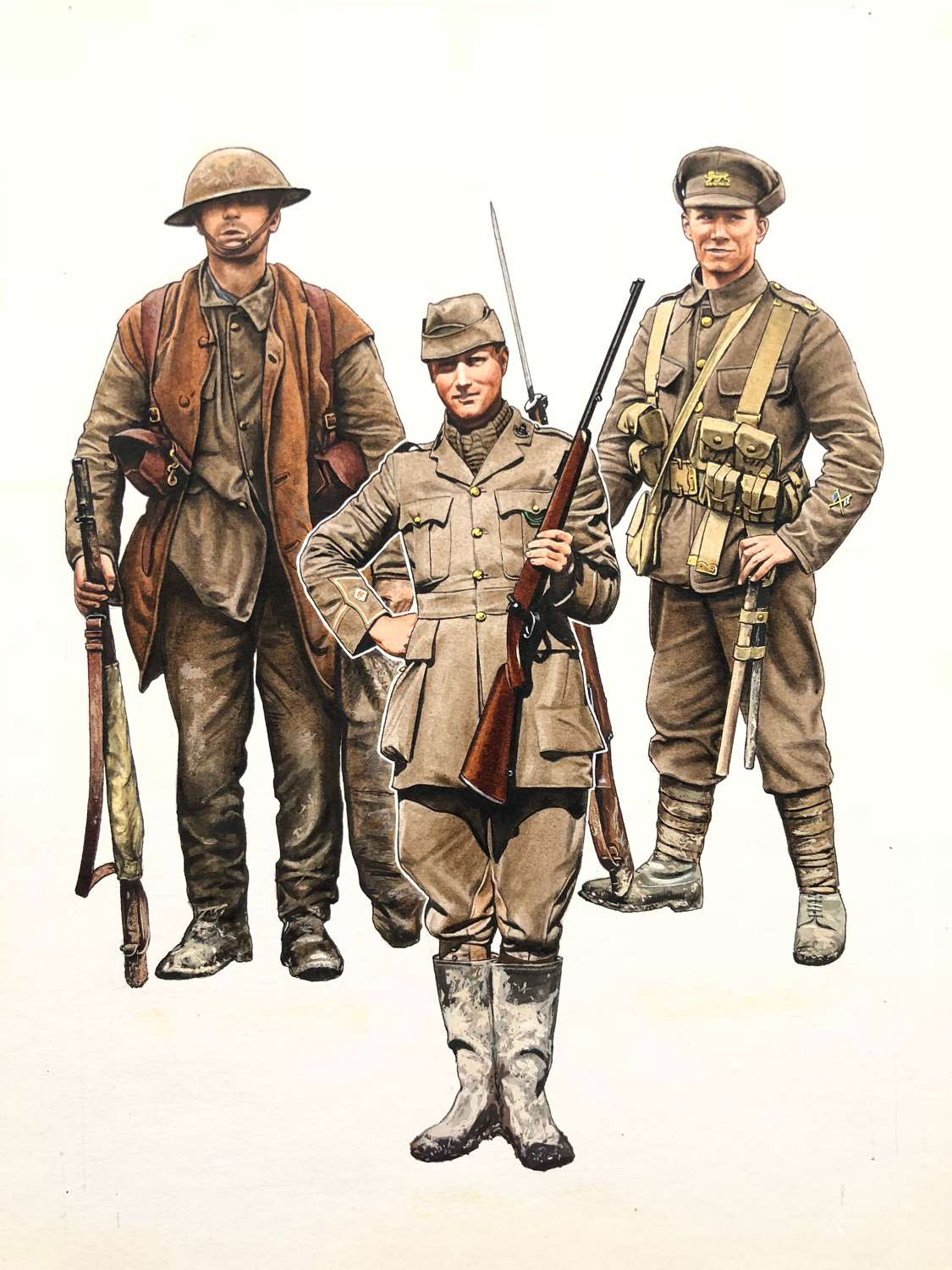 WW1 Original British Army Pierre Turner  Illustration Blandford Book