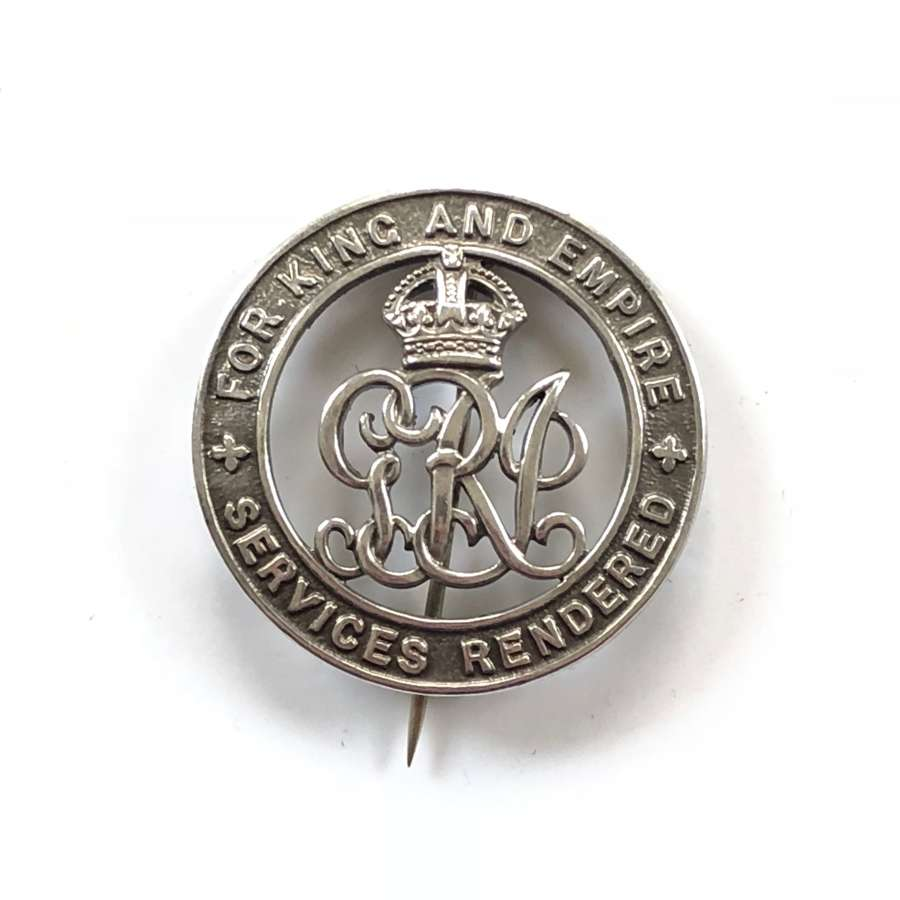 WW1 Royal Irish Rifles Silver War Badge.