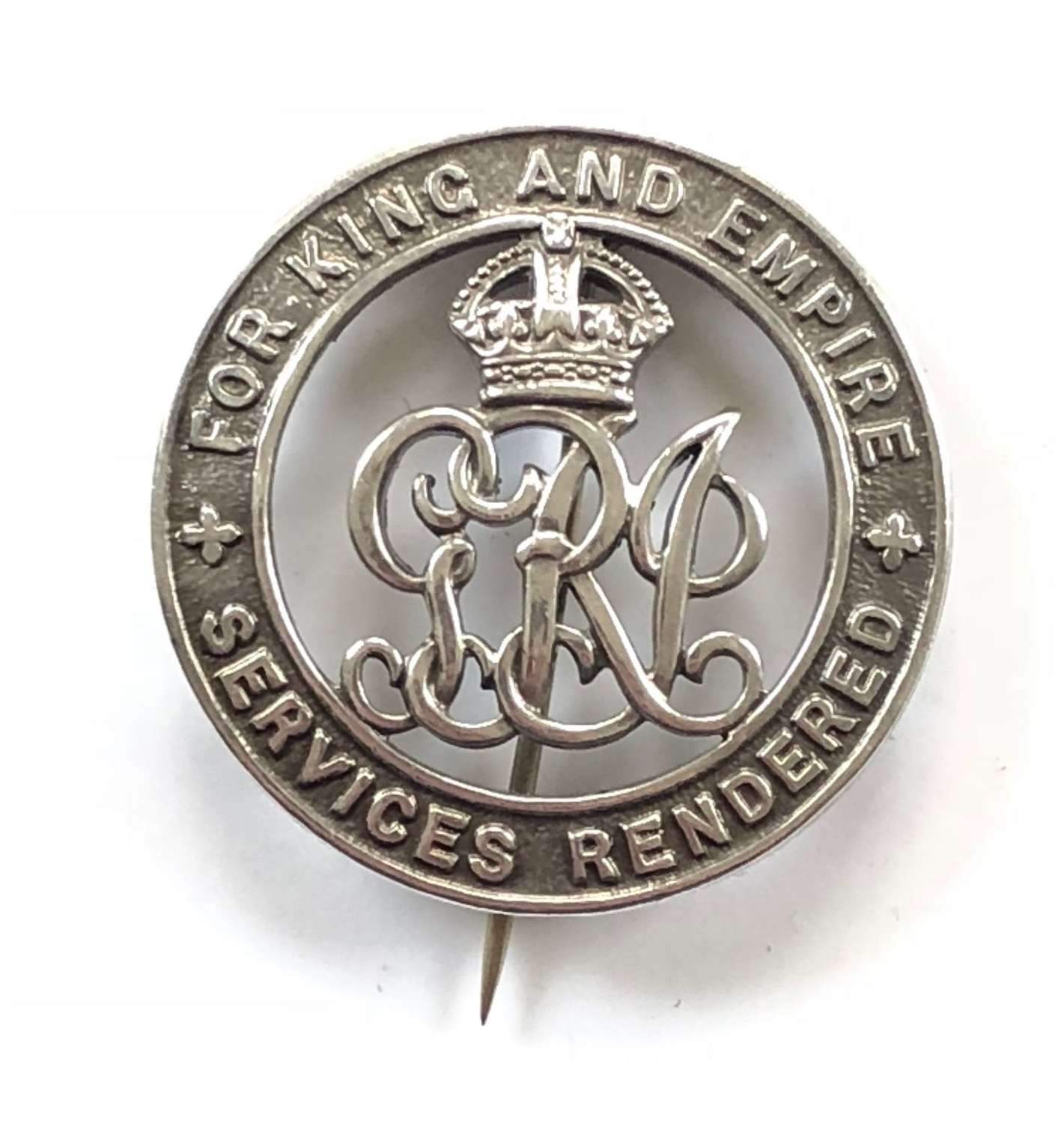WW1 Royal Irish Rifles Silver War Badge.