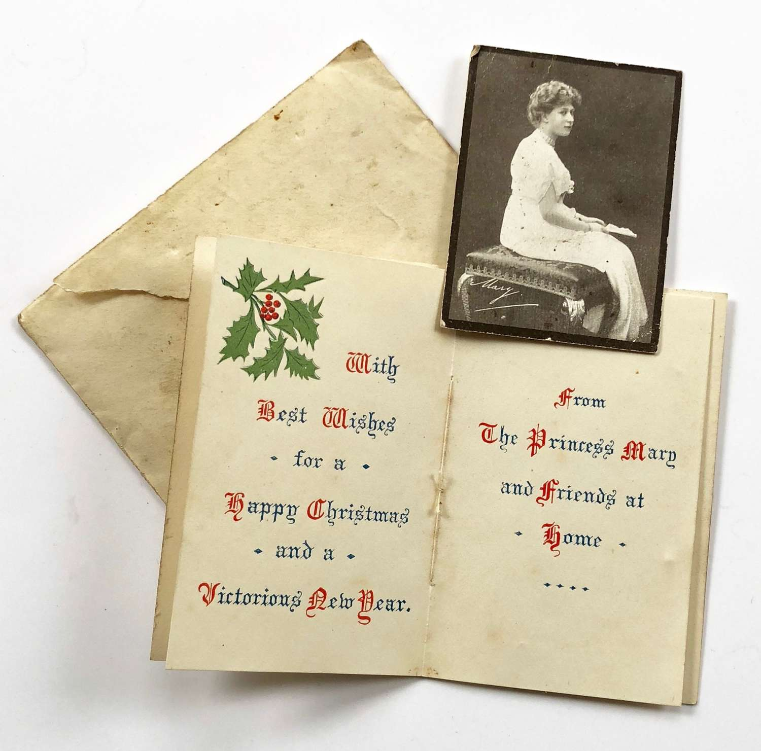 WW1 Christmas 1914 Princes Mary Gift Card.