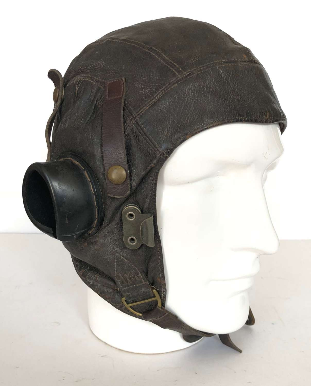WW2 RAF 1st Pattern C Type Flying Helmet Early Issue.