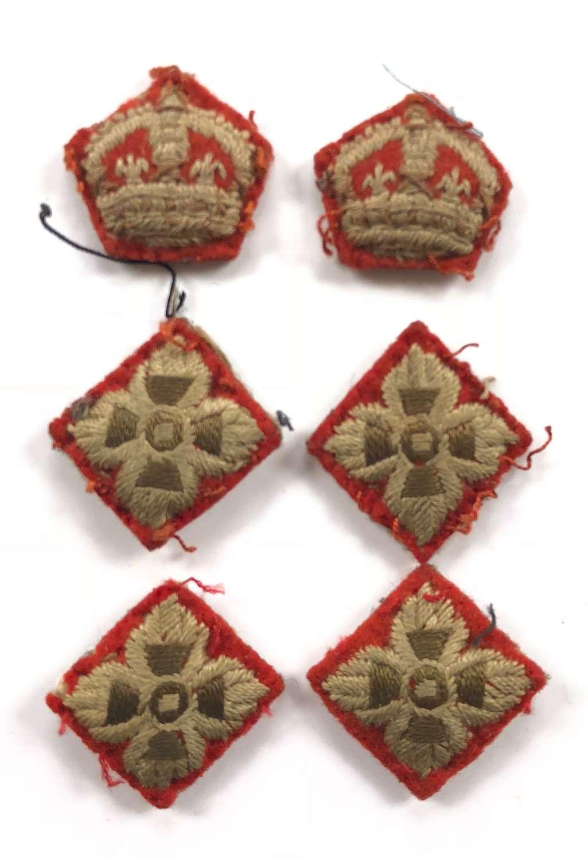 WW2 Period British Infantry Officer Rank Insignia.