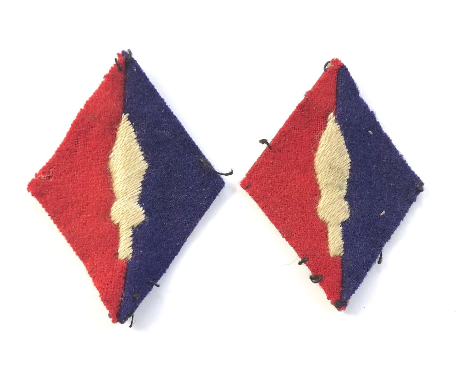 WW2 British Army 1st Corps Royal Artillery Pair of Formation Badges.
