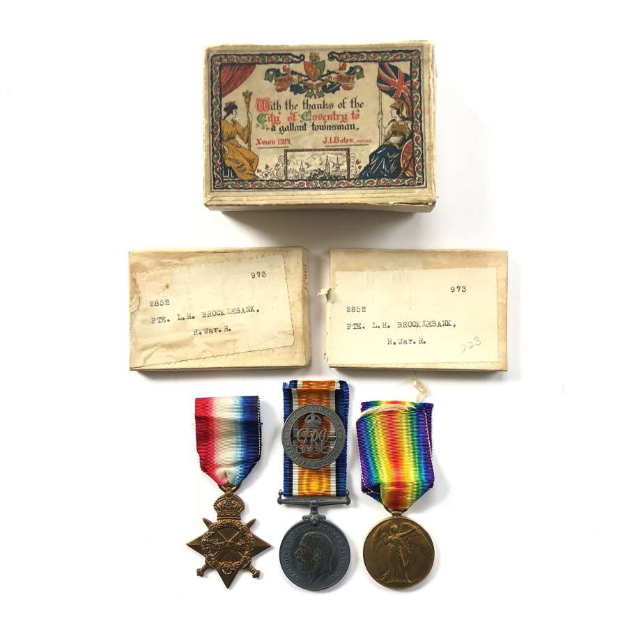 WW1 7th Bn Royal Warwickshire Regiment Coventry Interest Medal Group