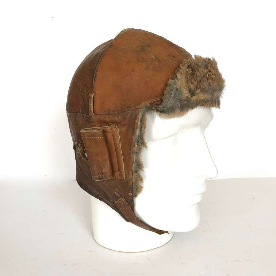 WW1 RFC / RNAS/ RAF Pilot's Flying Helmet.