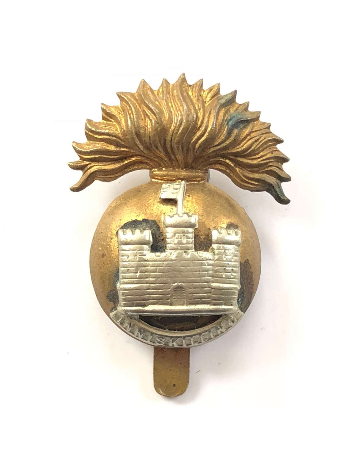 WW1 Period Inniskilling Fusiliers Cap Badge by Tiptaft Birmingham.