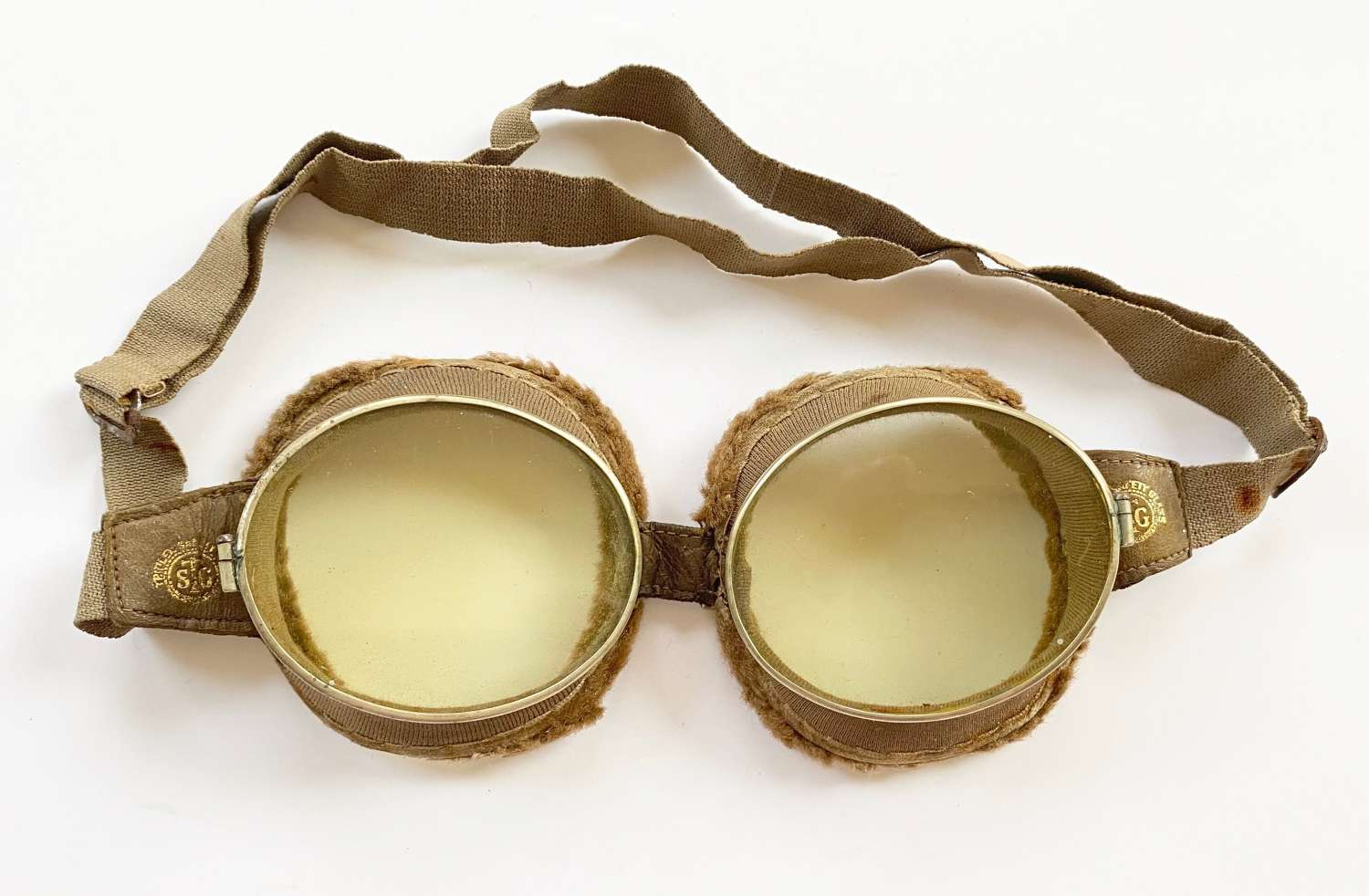 WW1 RFC RNAS RAF Pattern Triplex Flying Goggles.