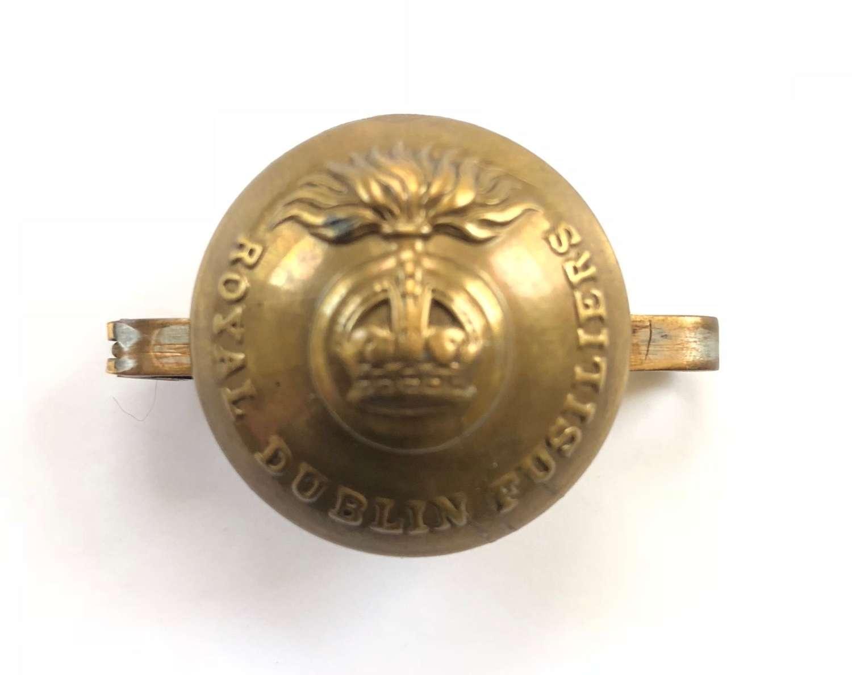 WW1 Irish Royal Dublin Fusiliers Sweetheart Button Brooch.