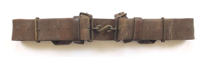 WW1 1914 Pattern Leather Equipment Belt. 1915 Clear Date