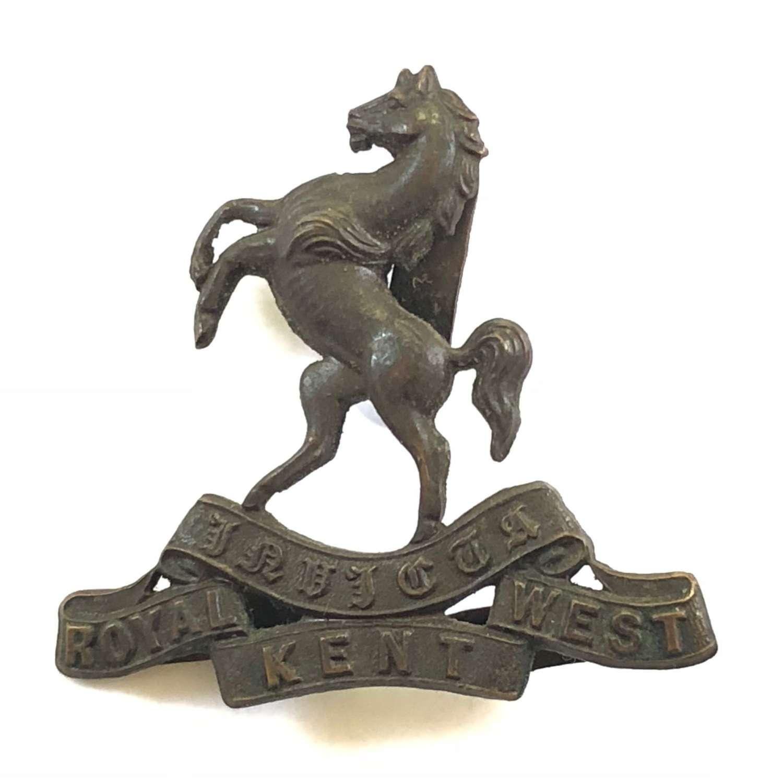 WW1 / WW2 Royal West Kent Regiment Officer's OSD Cap Badge.