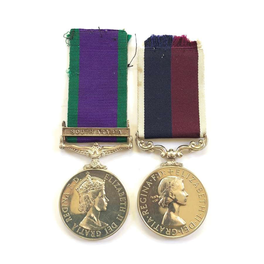 RAF Campaign Service Medal Long Service Pair of Medals.