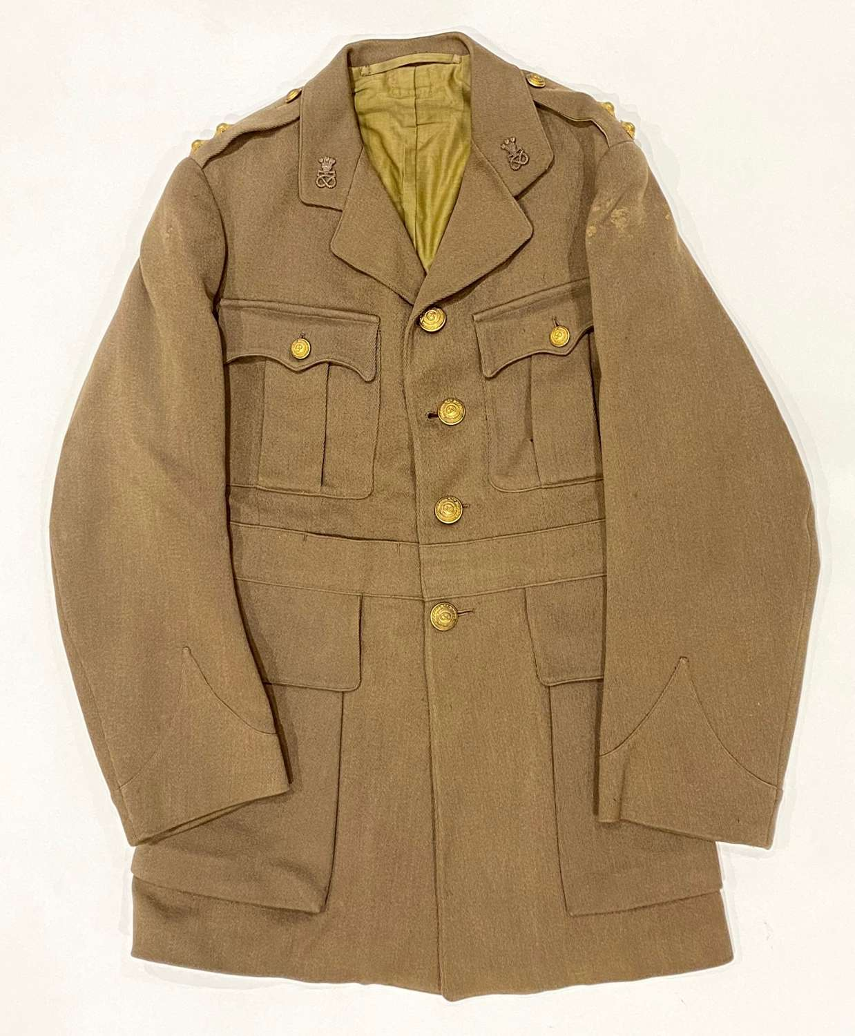 WW1 North Staffordshire Regiment Officer's 1917 Pattern Tunic.