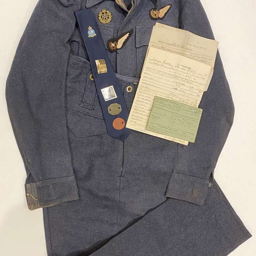 WW2 RAF Attributed Aircrew Battledress Uniform & Ephemera.