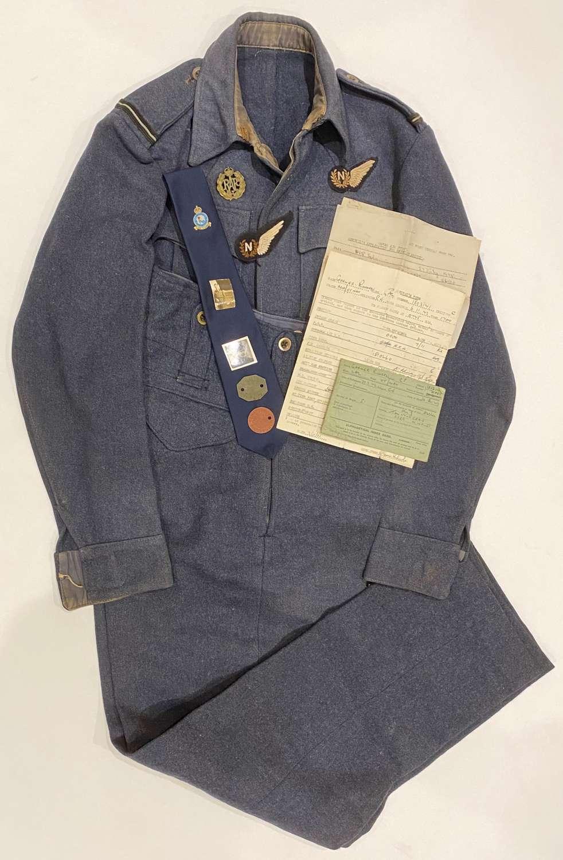 WW2 RAF Attributed Aircrew Battledress Uniform & Ephemera.